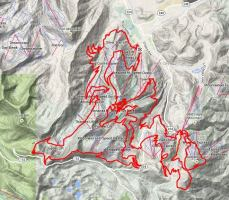TNFECS UT 50 Mile Course Map